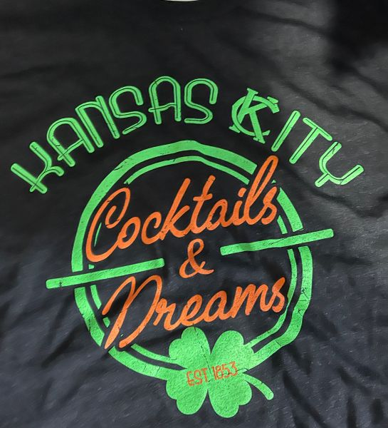 Cocktails & Dreams KC Charcoal Black Triblend Crew Unisex Super Soft