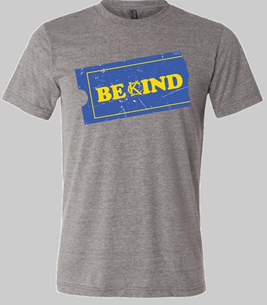 Be Kind KC Unisex Super Soft Crew Tee Gray Triblend