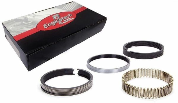 Piston Ring Set - Chrome Steel (EngineTech S87564) 01-15