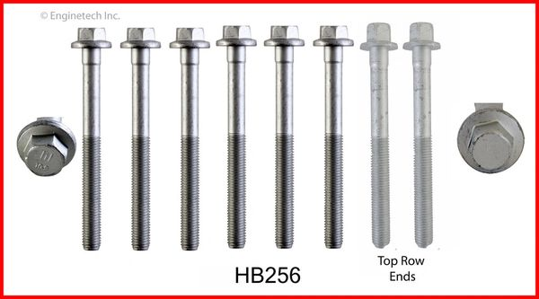 Head Bolt Set - for 1 Head (EngineTech HB256) 06-11