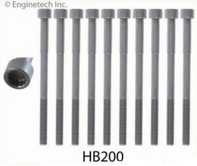 Head Bolt Set - w/Rear Drum Brake (EngineTech HB200) 98-08