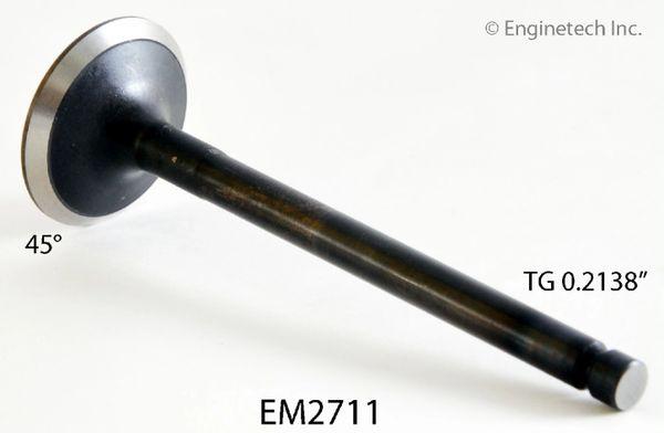 "Exhaust Valve - 1.232"" (EngineTech EM2711) 91-98"