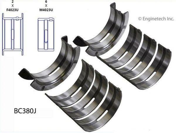 Main Bearing Set (EngineTech BC380J) 72-89