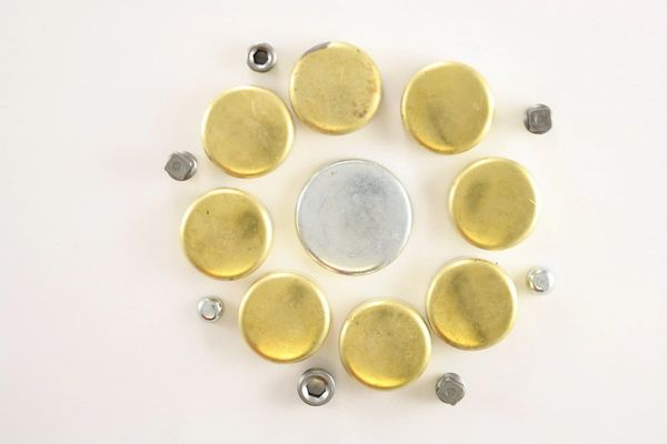 Frost Plug Set - Brass (Melling MPE185BR) 85-12