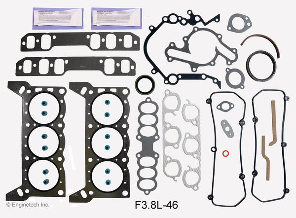 Full Gasket Set (EngineTech F3.8L-46) 94-95 RWD