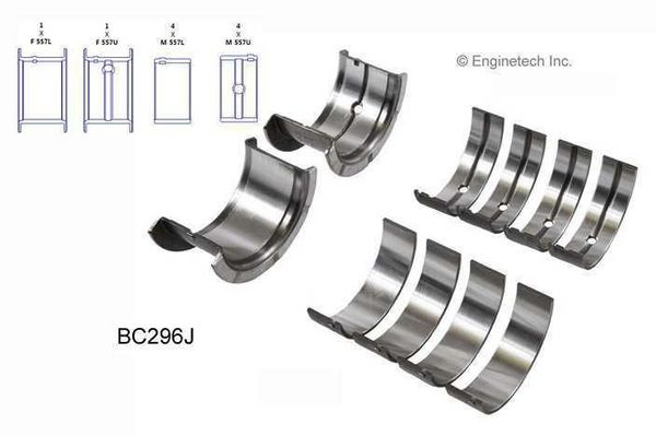 Main Bearing Set (EngineTech BC296J) 67-02