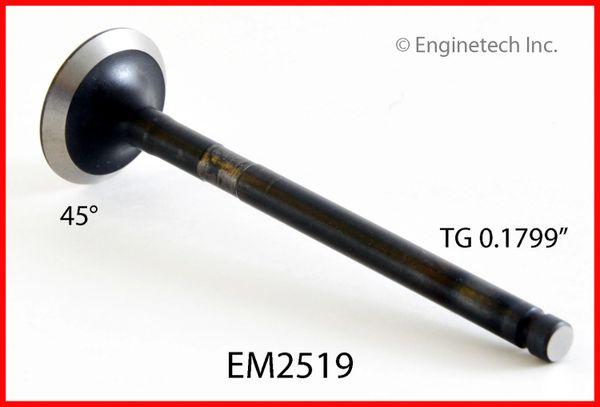 "Exhaust Valve - 3.618"" OAL (EngineTech EM2519) 88-93"