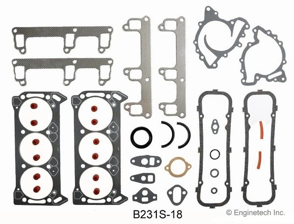 Full Gasket Set - RWD (EngineTech B231S-18) 79-87