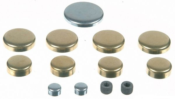Frost Plug Set - Brass (EngineTech PK19B) 75-95