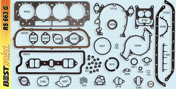 Full Gasket Set (Best RS663G-1) 63 Only