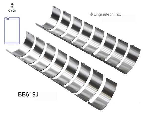 Rod Bearing Set (EngineTech BB619J) 58-07