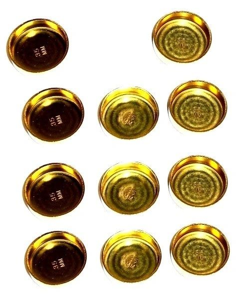 Frost Plug Set - Brass (Melling MPE255BR) 88-04