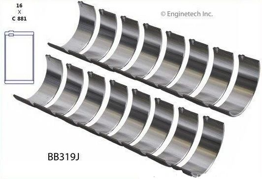 Rod Bearing Set - .002 O/D (EngineTech BB319J) 91-16