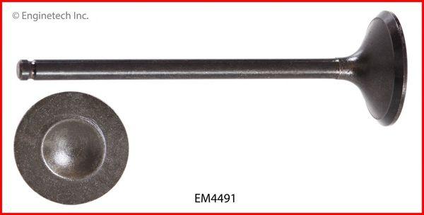 Valve - Exhaust (EngineTech EM4491) 09-13