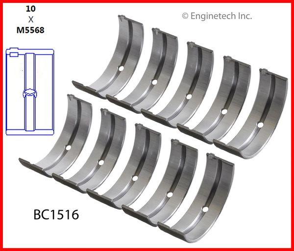 Main Bearing Set (EngineTech BC1516) 86-05
