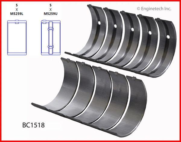 Main Bearing Set (EngineTech BC1518) 90-01