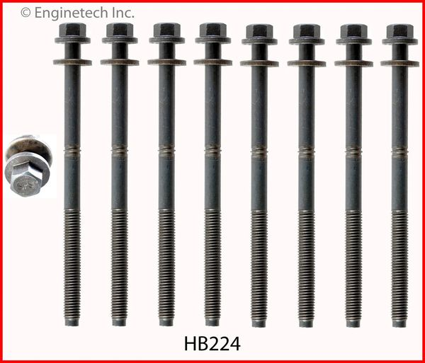 Head Bolt Set - For 1 Head (EngineTech HB224) 95-09