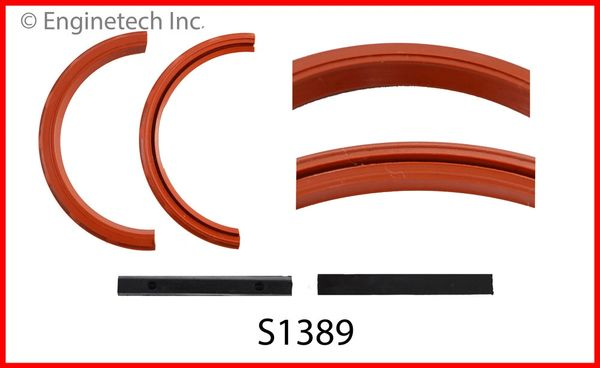 Rear Main Seal - Rubber Style (EngineTech S1389) 64-90