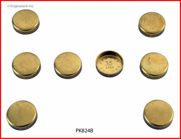 Frost Plug Set - Brass (EngineTech PK824B) 02-12