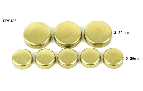 Frost Plug Kit - Brass (DNJ FPS136) 99-10