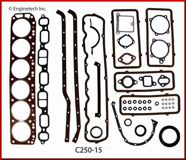 Full Gasket Set (EngineTech C250-15) 62-67