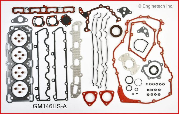 Full Gasket Set (EngineTech GM146K3) 96-99 See Notes