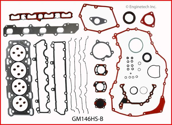 Full Gasket Set (EngineTech GM146K4) 99-02 See Notes