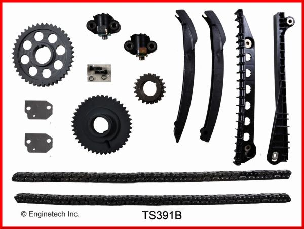 Timing Component Kit (EngineTech TS391B) 02-18