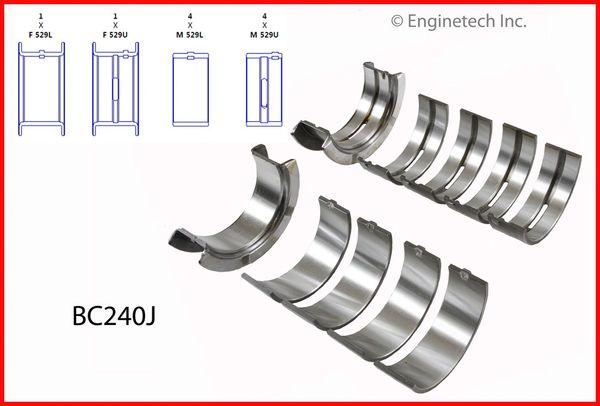 Main Bearing Set (EngineTech BC240J) 62-01