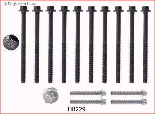 Head Bolt Set (EngineTech HB229) 02-16