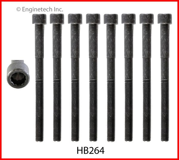 Head Bolt Set - For 1 Head (EngineTech HB264) 03-15