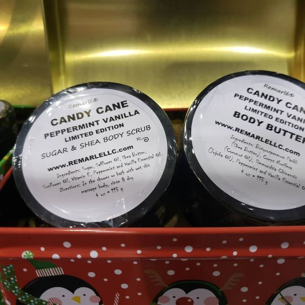 Candy Cane Body Scrub, Body Butter, or Hand Creme