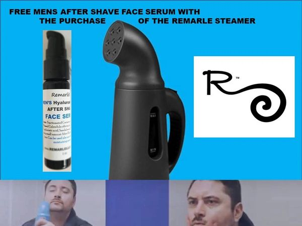Free Mens After Shave Face Serum with the Purchase of Remarlé Steamer®