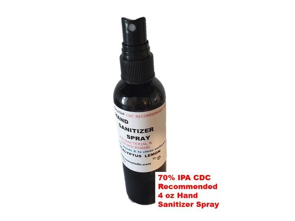 ANTIBACTERIAL & ANTIMICROBIAL HAND SANITIZER and Surface Cleaner Eucalyptus Lemon