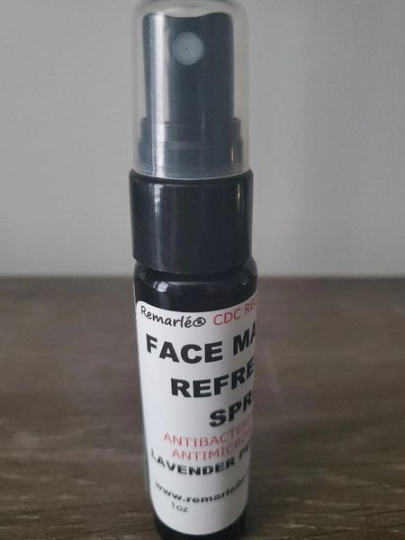 ANTIBACTERIAL & ANTIMICROBIAL FACE MASK REFRESHER SPRAY