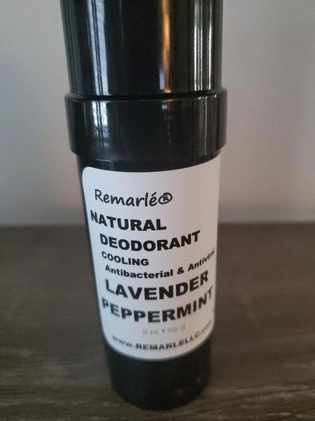 LAVENDER PEPPERMINT Deodorant - Natural ---no aluminum ANTIVIRAL ANTIBACTERIAL