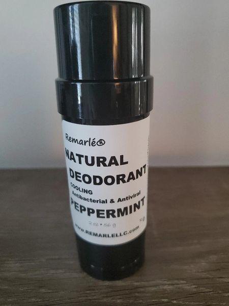 PEPPERMINT Deodorant - Cooling Natural ---no aluminum Antiviral Antibacterial