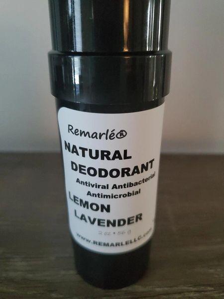 LEMON LAVENDER Deodorant - Natural ---no aluminum Antiviral Antibacterial Antimicrobial