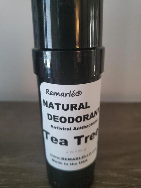 TEA TREE Deodorant - Natural --no aluminum Antiviral and Antibacterial