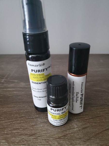 Purify™ Essential Oil Blend DROPPER ROLLER OR PUMP- A variation of Thieves anti-microbial, highly antiviral, antiseptic, antibacterial, anti-infectious