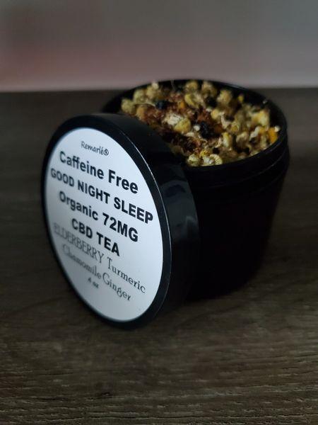 Organic ELDERBERRY & CBD GOODNIGHT SLEEP TEA with Turmeric Chamomile Ginger
