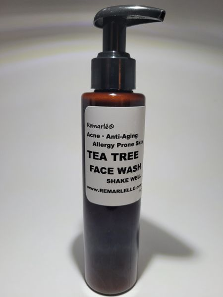 Tea Tree Face Wash Acne, Anti-Aging, Allergy Prone Skin Black Soap Face Wash