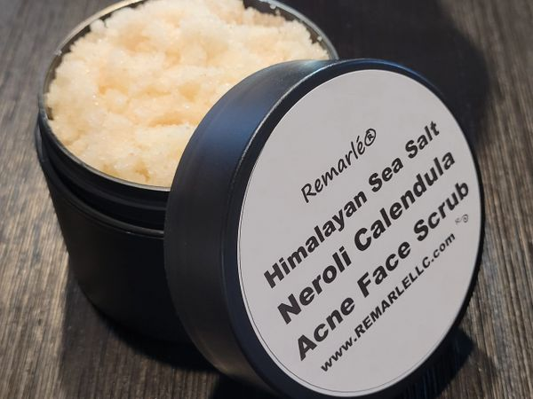 Himalayan Sea Salt Neroli Calendula Acne Face Scrub