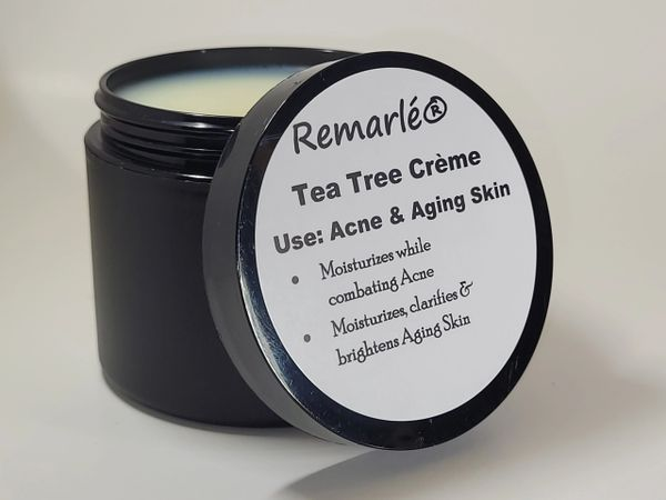 Tea Tree Creme for Acne - Moisturizes Skin while combating Acne, Clarifies Aging Skin