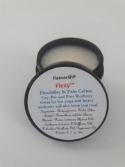 Flexy™ Pre and Post Workout Pain and Flexibility Creme also Leg Cramps, Body Pain, Neck Pain, Back Pain, Knee Pain