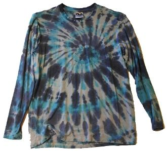 Men's Outdoor Panda long sleeve bamboo blues tie-dye T
