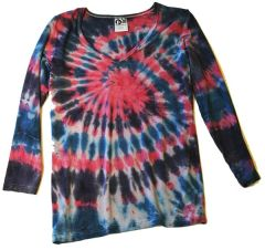 Women's Outdoor Panda long sleeve bamboo Twilight Tie-dye V