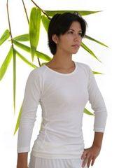 Women's bamboo raglan 3/4 sleeve T
