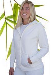 Women's bamboo zip hoodie