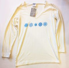 Women's Outdoor Panda long sleeve bamboo Snowflakes V